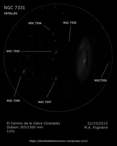 NGC 7331 detalles
