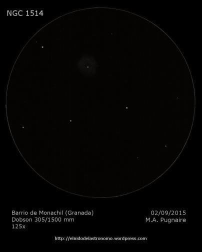 NGC 1514 (con luna)