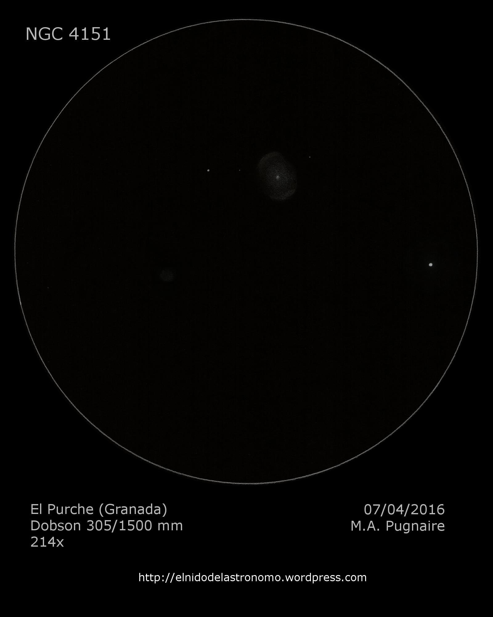El ojo del huracán (NGC 4151 y NGC 4156) | El nido del astrónomo