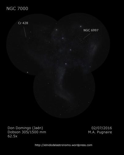 NGC 7000 detalle