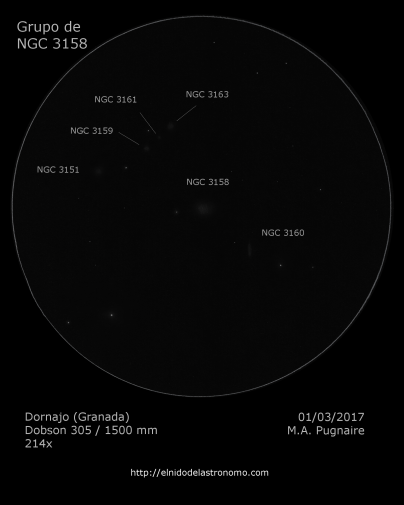 NGC 3158 detalles