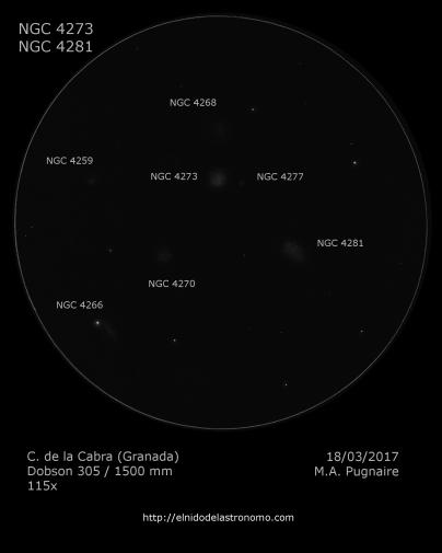 NGC 4273 - detalles