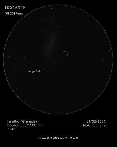 NGC 6946 SN - detalles