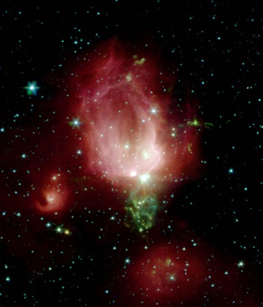 Foto NGC 7129 Spitzer